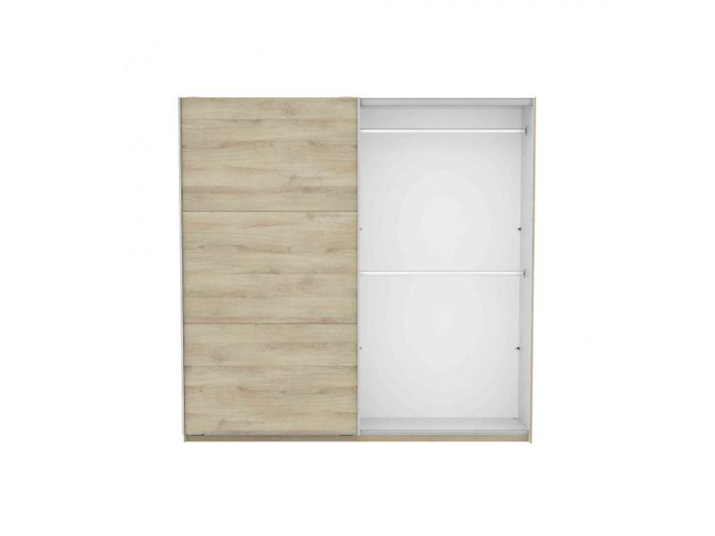 Armoire 2 portes coulissantes en bois imitation chêne kronberg - ar184