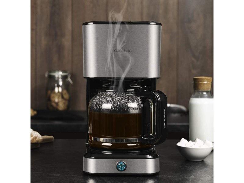 Cafetière électrique de 1,5l 950w gris noir