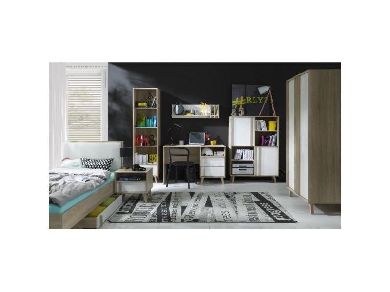 bureau malmo coloris bois sonoma et blanc meuble de type. Black Bedroom Furniture Sets. Home Design Ideas