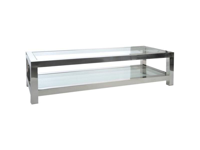 Table basse acier inoxydable acacia creek 35516