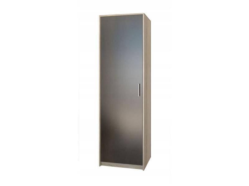 Essen - petite armoire contemporaine chambre/bureau/studio - 180x55x42 cm - penderie - meuble de rangement - sonoma/wenge