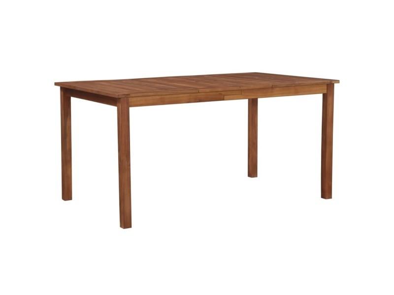 Vidaxl table de salle à manger de jardin bois d'acacia 150x90x74 cm 44105
