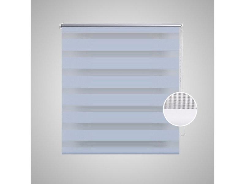 store enrouleur blanc tamisant 80 x 150 cm fenêtre rideau pare vue