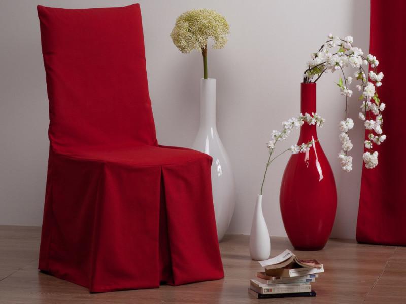 housse de chaise coton rouge ines vente de coussin et. Black Bedroom Furniture Sets. Home Design Ideas