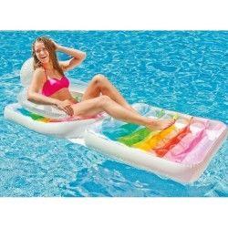 Matelas fauteuil de piscine transparent