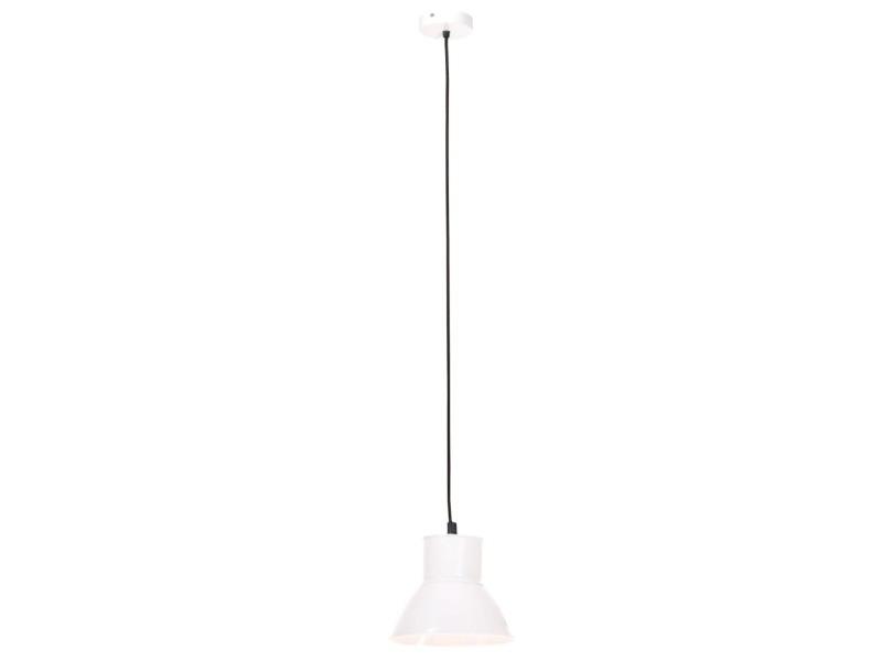 Vidaxl lampe suspendue 25 w blanc rond 17 cm e27 320574