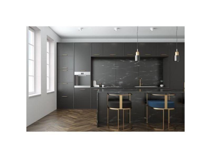 Credence - accessoire credence - fond de hotte plaque composite - aluminium - 80 x 120 cm 3/0,15 mm - pierre de lave