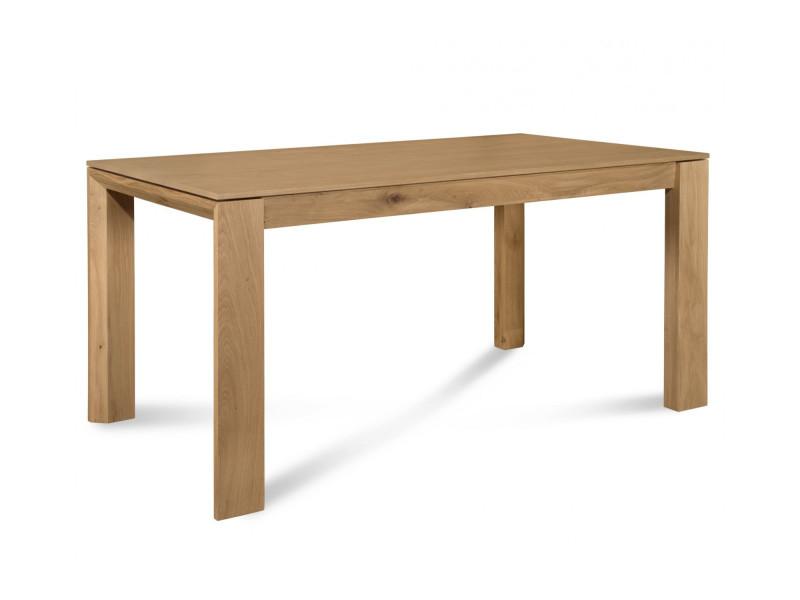 Table à manger extensible filigrame en bois, finition chêne naturel