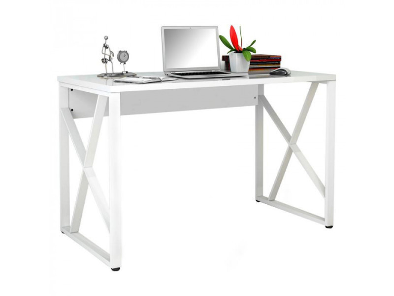 Bureau informatique blanc brillant vente de bureau conforama