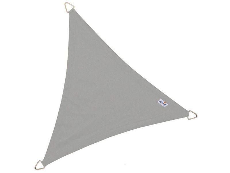 Voile d'ombrage imperméable triangulaire dreamsail gris 5 x 5 m