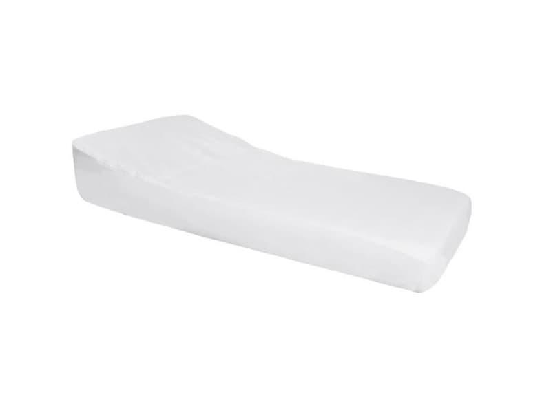 Doux nid nova drap housse imperméable pro secur spécial plan incliné 15° - perle / blanc - 70x140 cm
