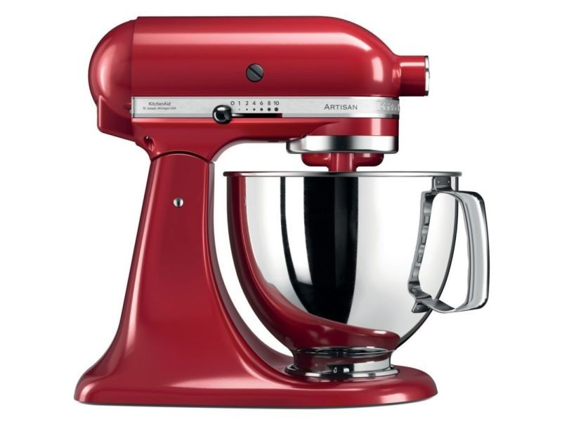 Kitchenaid artisan 5ksm125eer - robot multi-fonctions - 300 watt - rouge empire