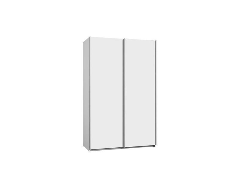 Ulos Armoire 2 Portes Coulissantes Blanc Mat L 120 X P 61 X H