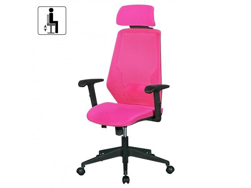 Chaise pivotante réglable en hauteur en pvc à 5 roulettes