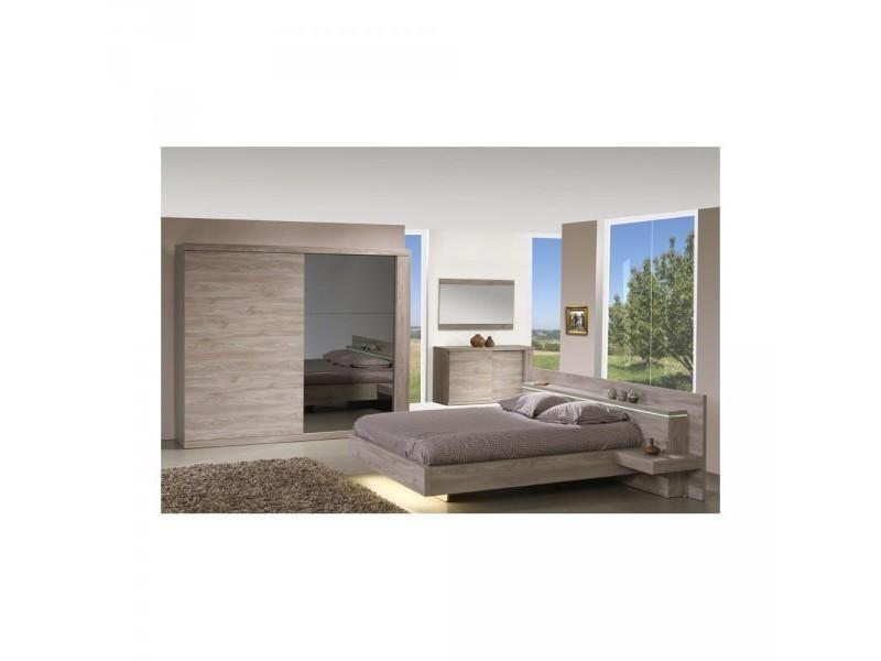 chambre adulte compl te jose 1 avec lit 140 chevets 258 x 230 cm avec lit 160 chevets. Black Bedroom Furniture Sets. Home Design Ideas