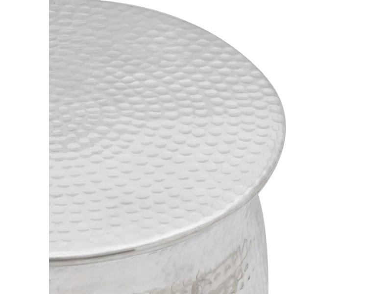 6ff01ec680c76f Vidaxl tabouret en aluminium martelé argent 242324 - Vente de VIDAXL -  Conforama