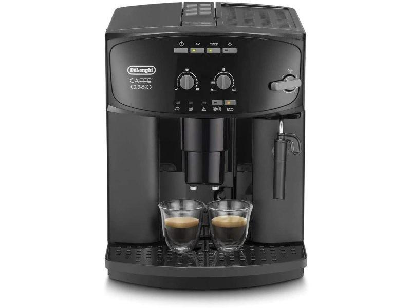 Machine à café automatique de 1,8l avec buse vapeur 1150w noir
