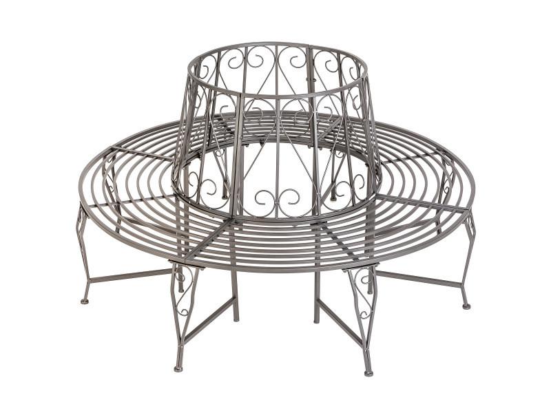 Tectake banc de jardin circulaire 401558