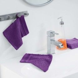 Lot de 2 gants de toilette 15 x 21 cm prune