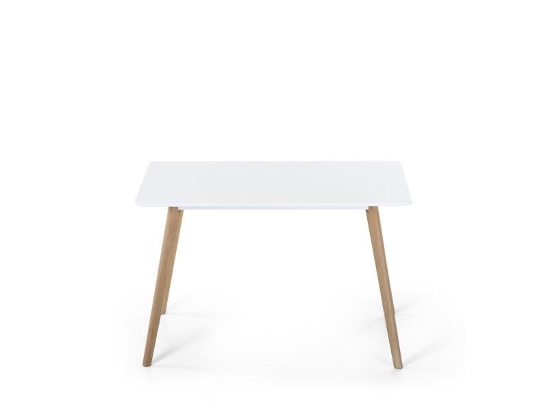 Table de salle à manger blanche 120x80 cm fly ii 14770 ...