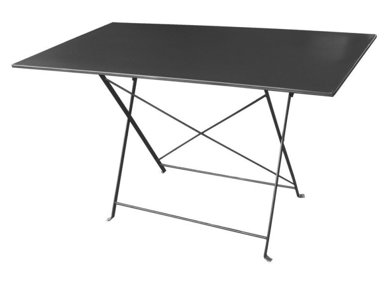 Table rectangulaire pliante en acier 110x70cm gris pop - Vente de ...