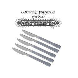 20 couteaux prestige jetables plastique gris