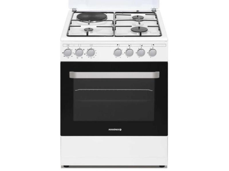 Cuisinière prodige 60cm mixte four mf catalyse blanc rosieres - rme660cmw/e