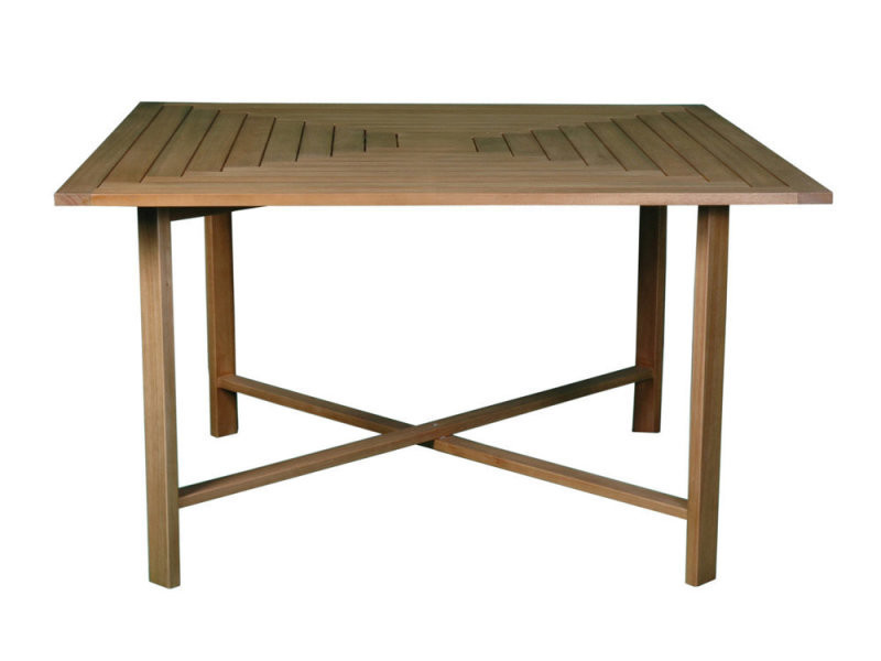 Table carrée de jardin pliante en acacia l.130cm beige ...