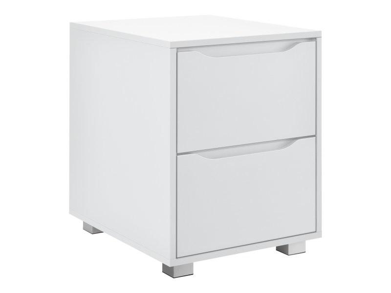 Table de nuit chevet commode design pour chambre 54 cm blanc helloshop26 03_0006258