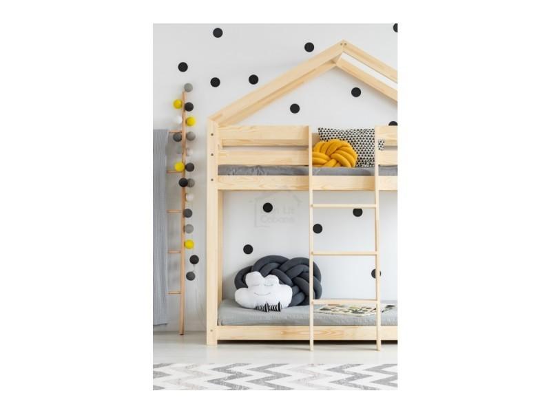 lit superpos g cabane bois massif sommiers 70x140 vente de monlitcabane conforama. Black Bedroom Furniture Sets. Home Design Ideas