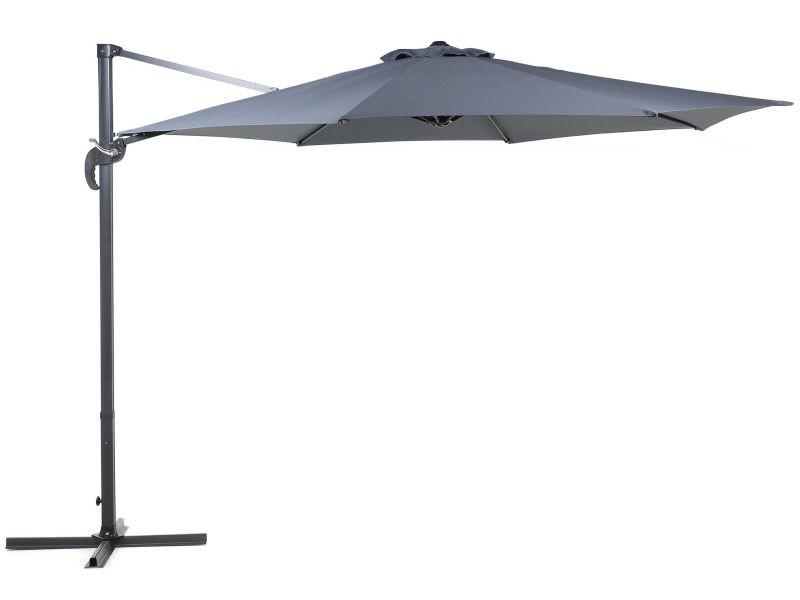 Grand parasol de jardin gris anthracite ø 300 cm savona 33071
