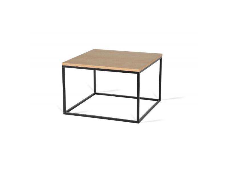 Table basse carrée industrielle 60 cm helisa / coloris : chêne