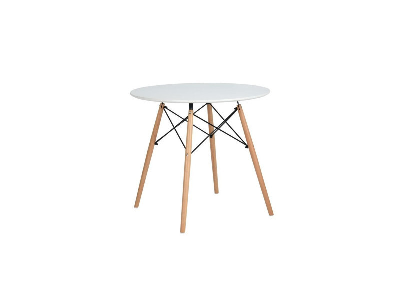 Table Ronde Scandinave Blanche Vente De Calicosy Conforama