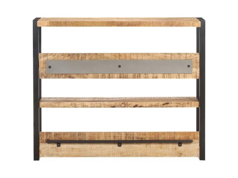 Vidaxl table de bar 120x40x101 cm bois de manguier brut 321793