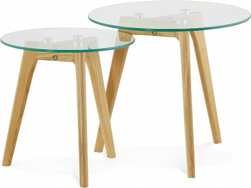 Table basse verre transparent iggy ct00370cl vente de kokoon design conforama - Table salon verre conforama ...