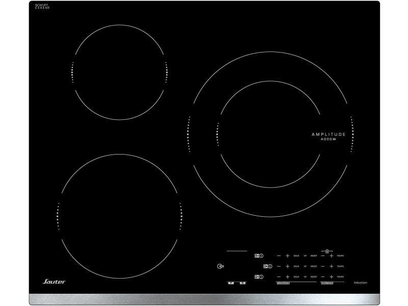 Plaque induction sauter 7200w 61cm, spi 4360 x