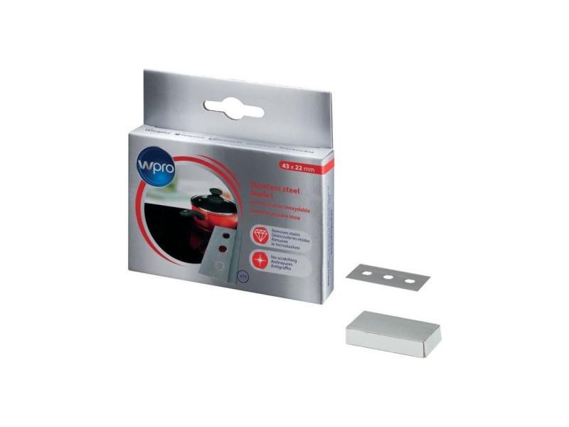 Bla014 - boîte de 10 lames en acier inoxysable pour grattoir WPRBLA014