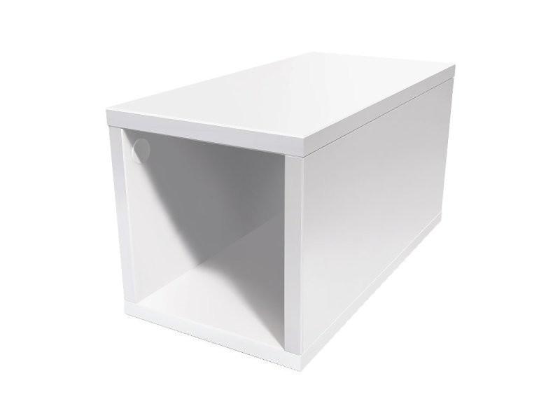 Cube de rangement 25x50 cm bois 25x50 blanc CUBE25-LB