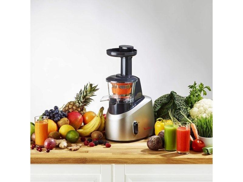 Extracteur de jus pour fruits et légumes 82 tours/minute 200w gris noir