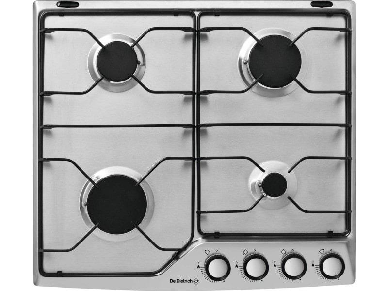 Table de cuisson gaz émail 4 feux inox - dpe7610x dpe7610x