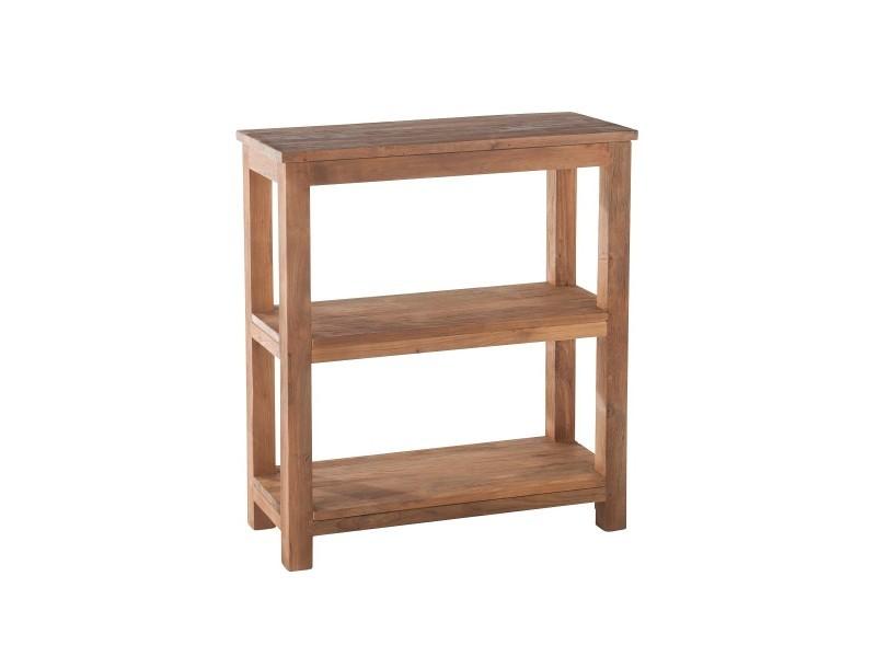 etag re 3 niveaux teck recycl vente de kok maison conforama. Black Bedroom Furniture Sets. Home Design Ideas