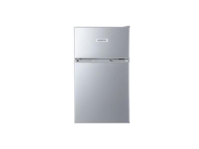 Oceanic ocea2dt70s - refrigerateur congelateur haut - 70l 48+22 - froid statique - a+ - l 48cm x h 84cm - silver OCEA2DT70S