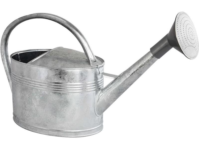 Arrosoir en acier galvanisé à chaud avec pomme 10 litres