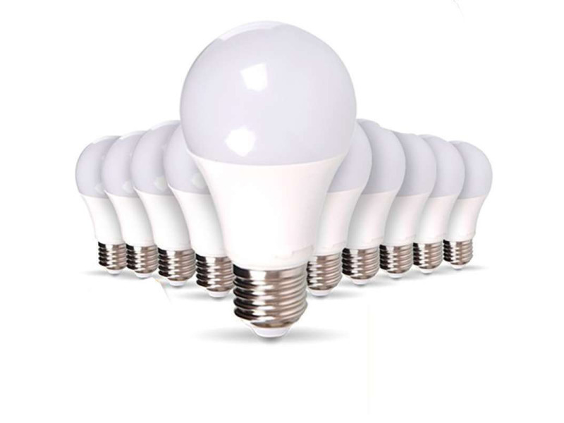 Lot de 50 ampoules e27 12w a65 équivalent 75w - blanc du jour 6000k 50XSP1721