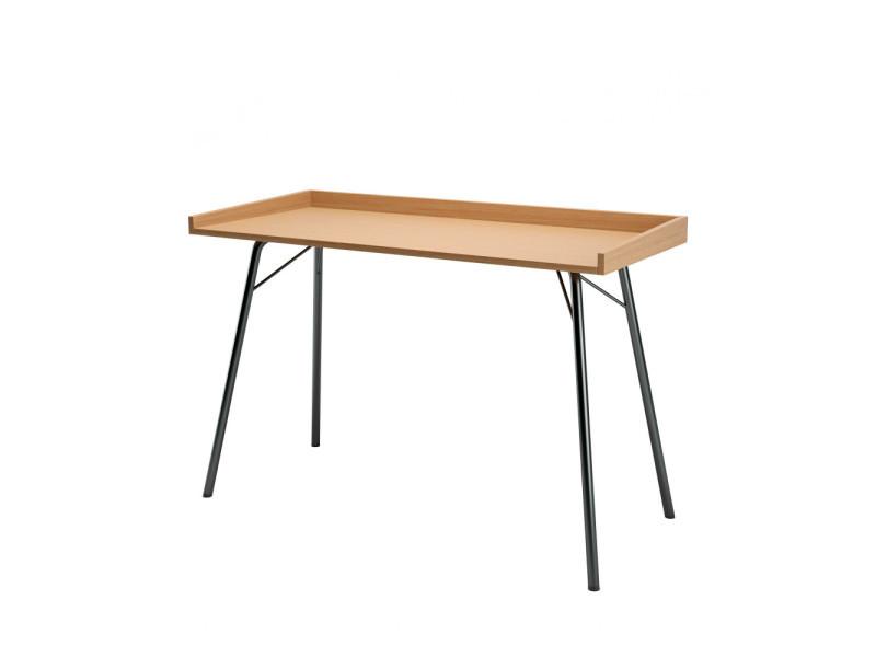 Rayburn - bureau design métal et bois - couleur - noir/chêne 115001001162