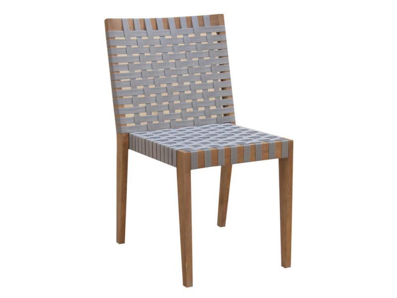 Chaise de jardin empilable acacia et gris (x2) zanzibar - Vente de ...