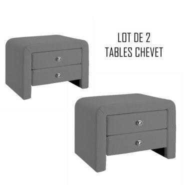 Table Chevet Vente Design De Conforama Eva Gris X2 EIDWH29Y