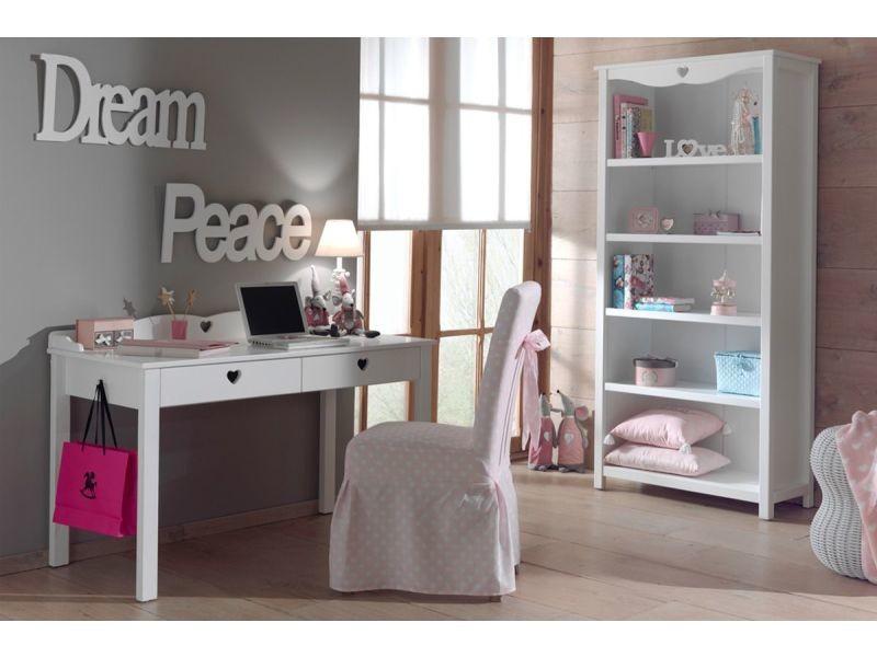 Ensemble bureau et bibliothèque pour chambre à coucher romantique