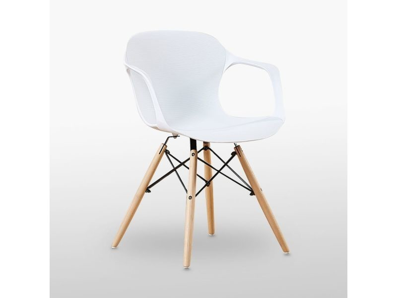 Chaise blanche alecia - inspiration scandinave