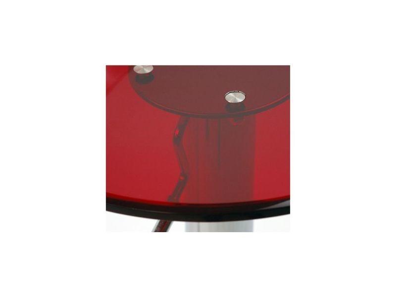 Tabouret De Bar Design Plexiglas Rouge Transparent Lot De 2